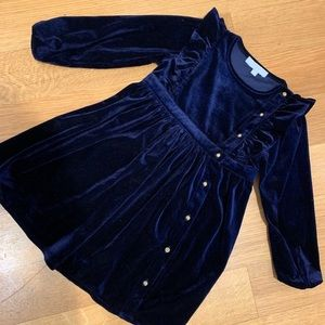 Peode Navy Girls Velour Dress size 5